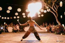 Entertainment for reception Fire dance
