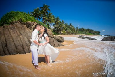 Jungle beach wedding