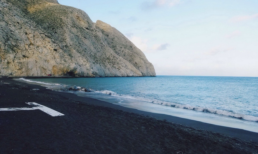 Black Sand Beach Santorini